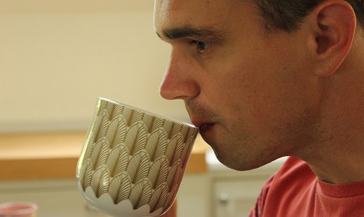Notice the sensation of the cup against your lips